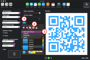 QR code websafe colors
