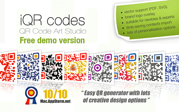 iQR Codes free demo version